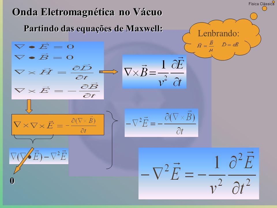 Física Clássica Eletromagnetismo - 1864 E Deus disse E a luz se fez!.