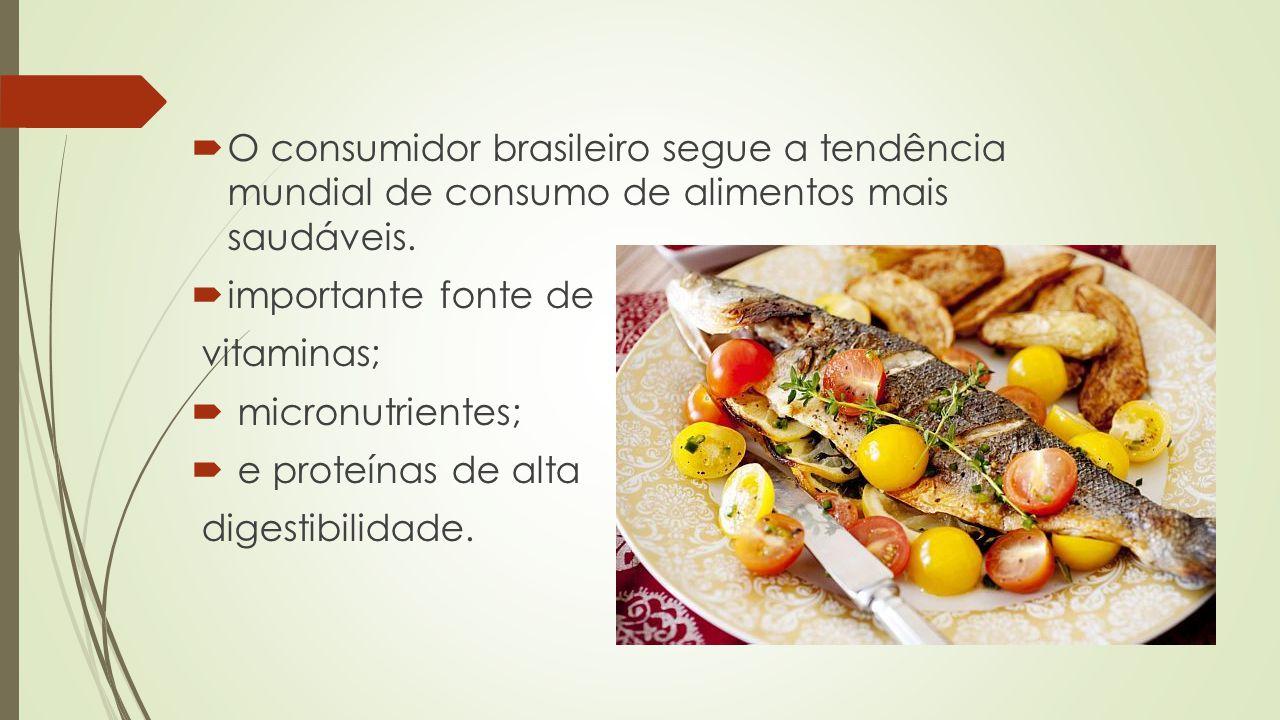  O consumidor brasileiro segue a tendência mundial de consumo de alimentos mais saudáveis.  importante fonte de vitaminas;  micronutrientes;  e pr