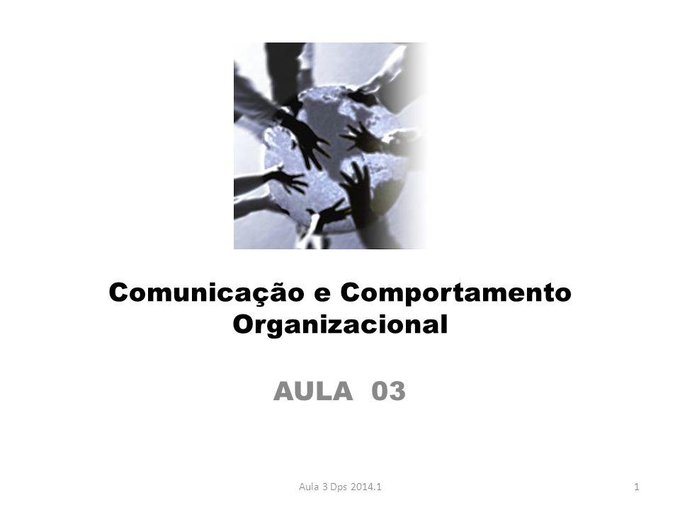 Comunicação e Comportamento Organizacional AULA 03 1Aula 3 Dps 2014.1
