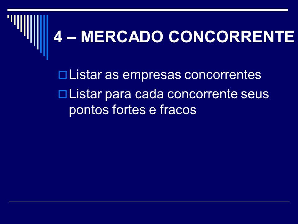 5 – MERCADO FORNECEDOR O mercado fornecedor é composto pelas empresas e pessoas que fornecem algum produto ou serviço para que sua empresa possa fabricar e vender seus próprios produtos ou possa fornecer serviços.