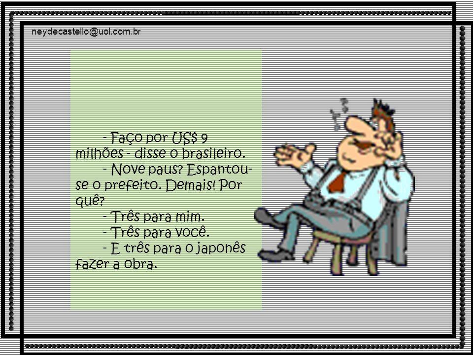 neydecastello@uol.com.b r - Faço por US$ 9 milhões - disse o brasileiro.