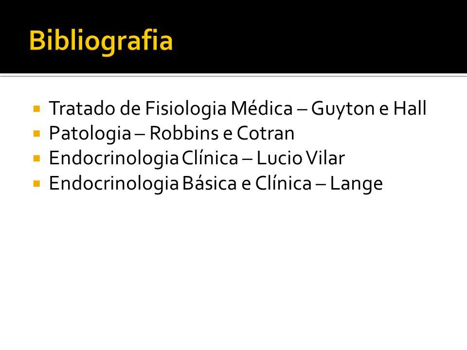  Tratado de Fisiologia Médica – Guyton e Hall  Patologia – Robbins e Cotran  Endocrinologia Clínica – Lucio Vilar  Endocrinologia Básica e Clínica
