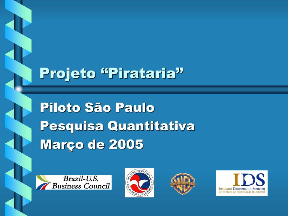 Projeto Pirataria Piloto São Paulo Pesquisa Quantitativa Março de 2005