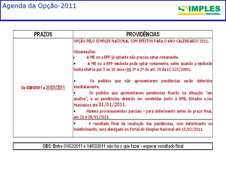 Agenda da Opção-2011