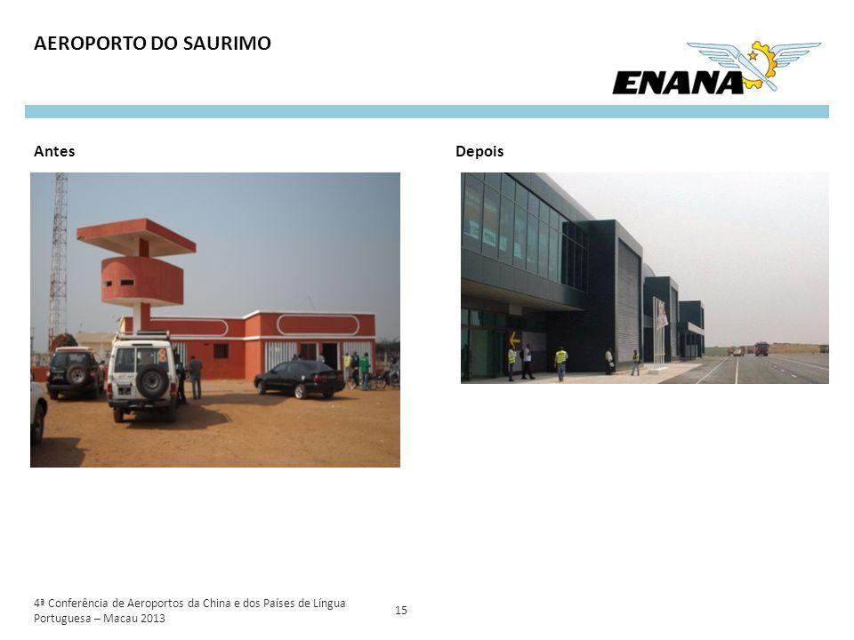 4ª Conferência de Aeroportos da China e dos Países de Língua Portuguesa – Macau 2013 15 AEROPORTO DO SAURIMO AntesDepois