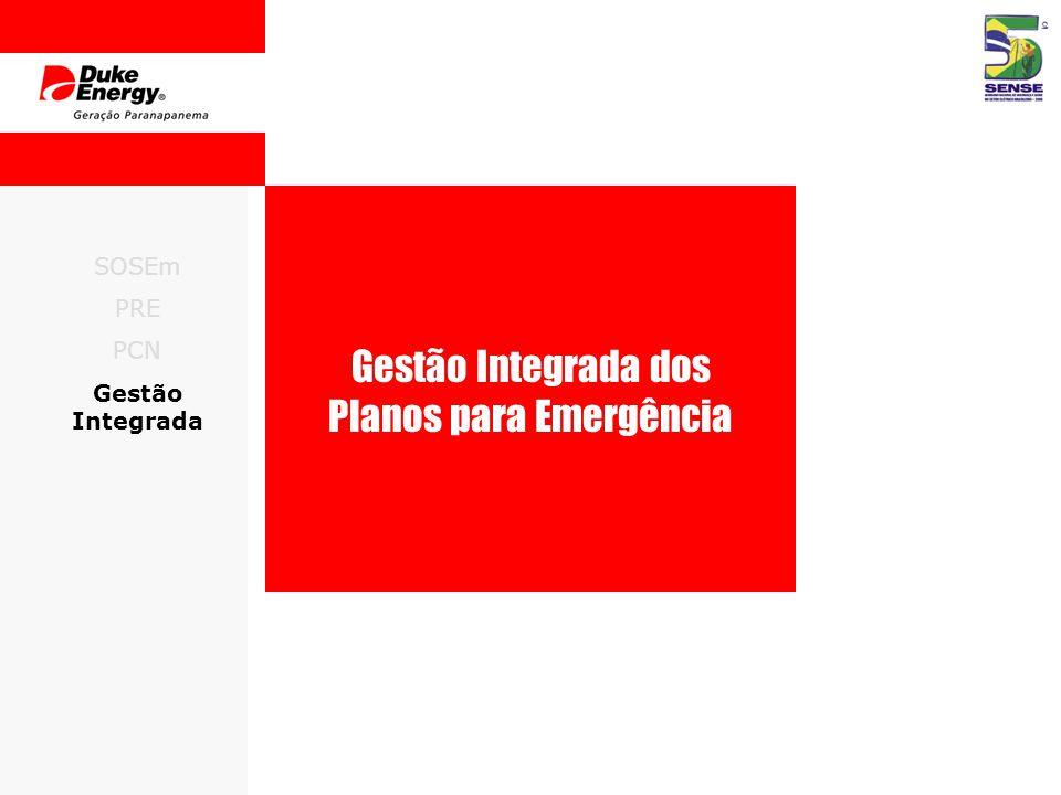 SOSEm PRE PCN Gestão Integrada Gestão Integrada dos Planos para Emergência