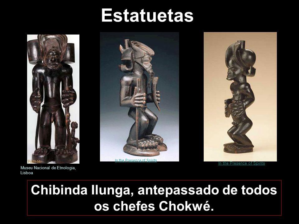 A arte Chokwe A arte Chokwe está ligada ao culto dos antepassados e à celebração da vida. Encontra-se presente nas suas actividades quotidianas, como