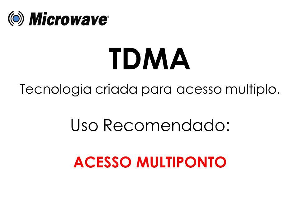 Tecnologia criada para acesso multiplo. Uso Recomendado: ACESSO MULTIPONTO