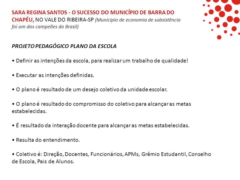 SARA REGINA SANTOS - O SUCESSO DO MUNICÍPIO DE BARRA DO CHAPÉU, NO VALE DO RIBEIRA-SP (Município de economia de subsistência foi um dos campeões do Br