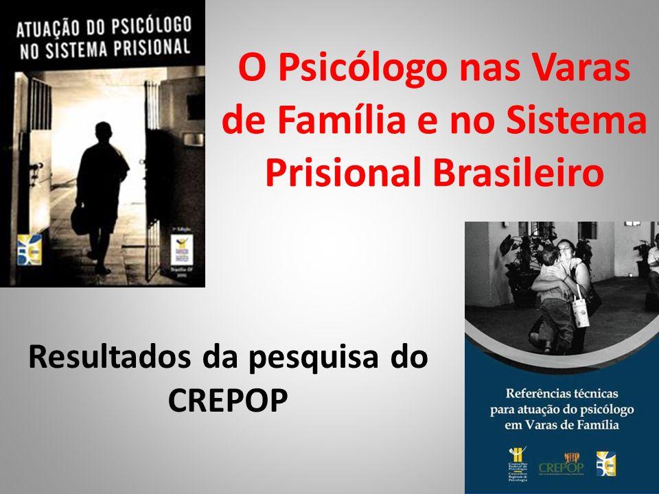 O Psicólogo nas Varas de Família e no Sistema Prisional Brasileiro Resultados da pesquisa do CREPOP