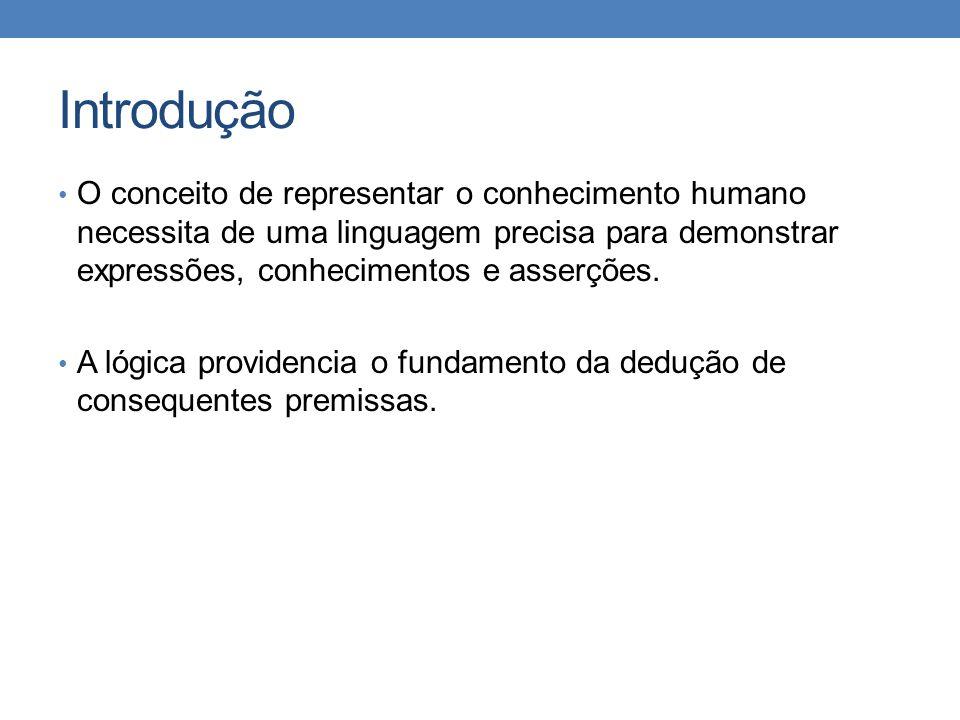 Introdução • O conceito de representar o conhecimento humano necessita de uma linguagem precisa para demonstrar expressões, conhecimentos e asserções.