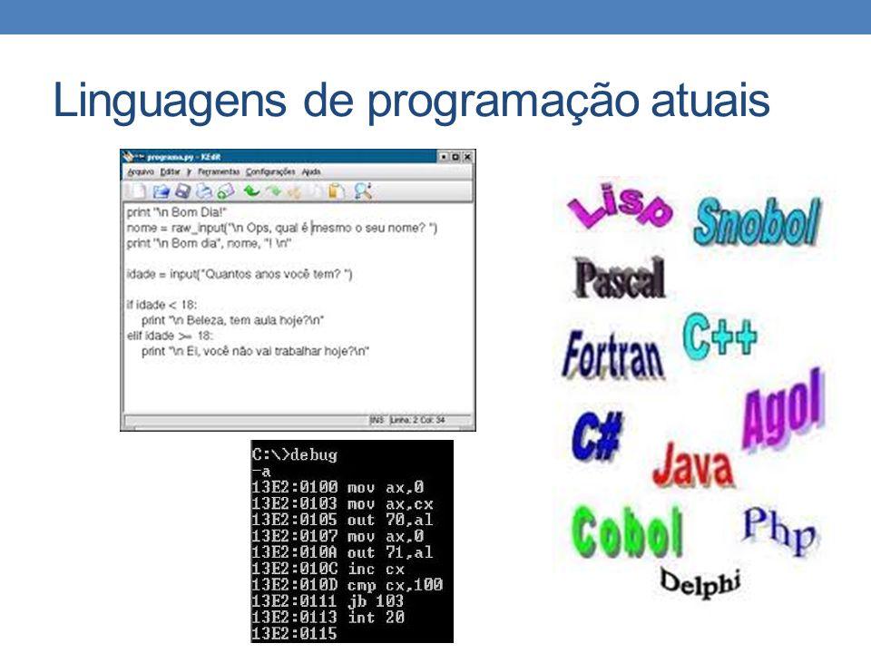 Linguagens de programação atuais