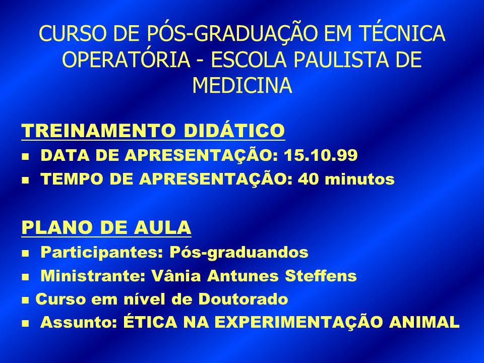 2.CONFORTO E BEM-ESTAR DOS ANIMAIS DE LABORATÓRIO n FARIA, H.
