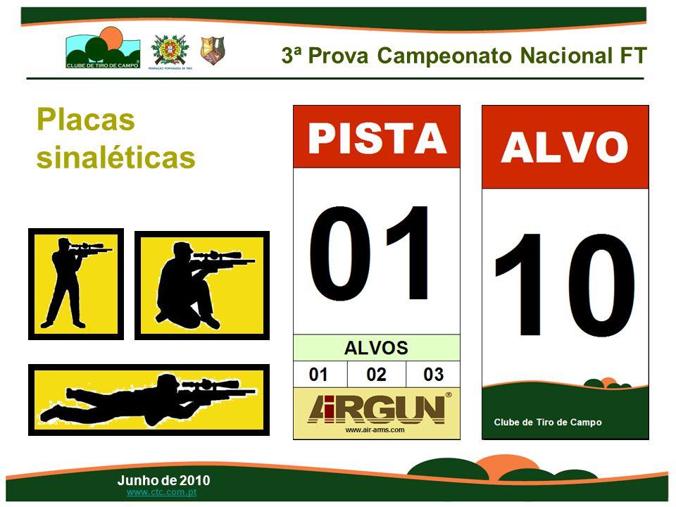 Junho de 2010 www.ctc.com.pt Placas sinaléticas 3ª Prova Campeonato Nacional FT