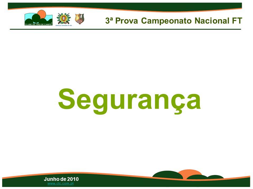 Junho de 2010 www.ctc.com.pt Segurança 3ª Prova Campeonato Nacional FT