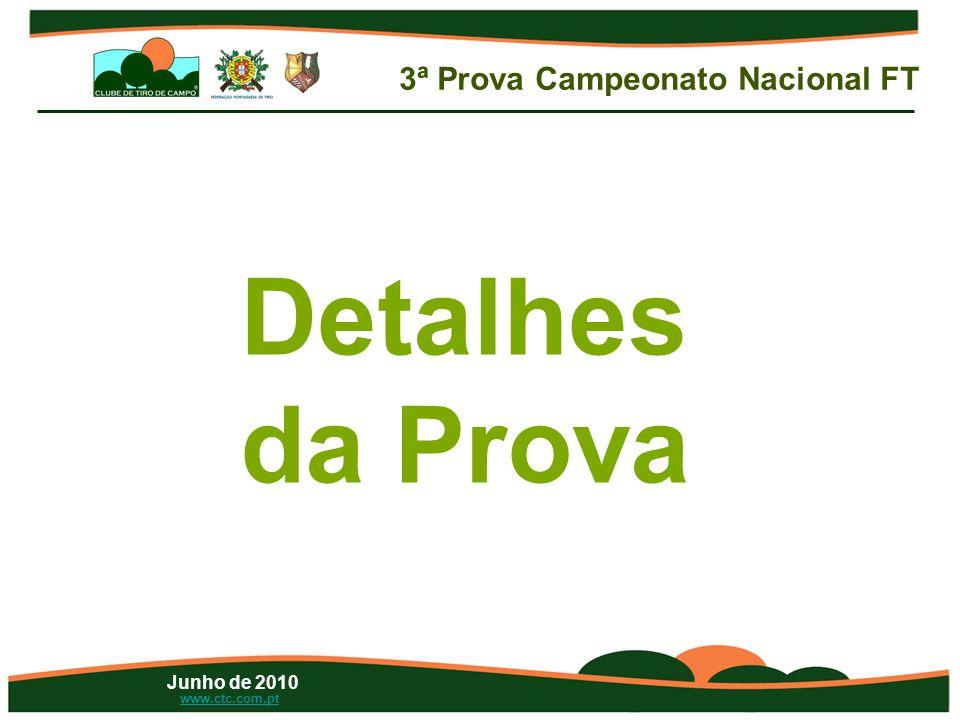 Junho de 2010 www.ctc.com.pt Detalhes da Prova 3ª Prova Campeonato Nacional FT