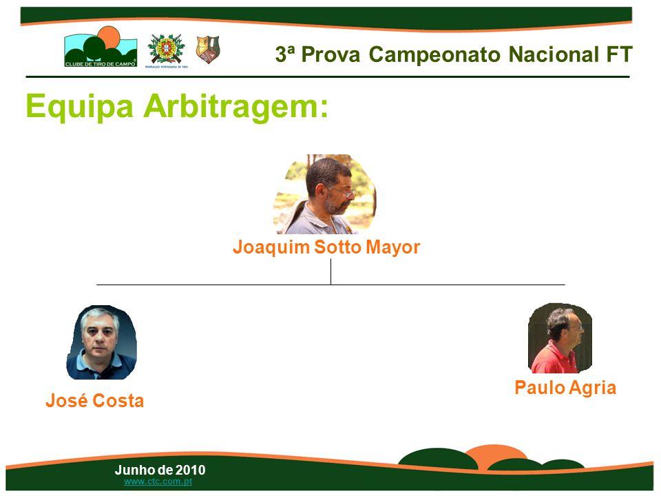 Junho de 2010 www.ctc.com.pt Equipa Arbitragem: Joaquim Sotto Mayor José Costa Paulo Agria 3ª Prova Campeonato Nacional FT
