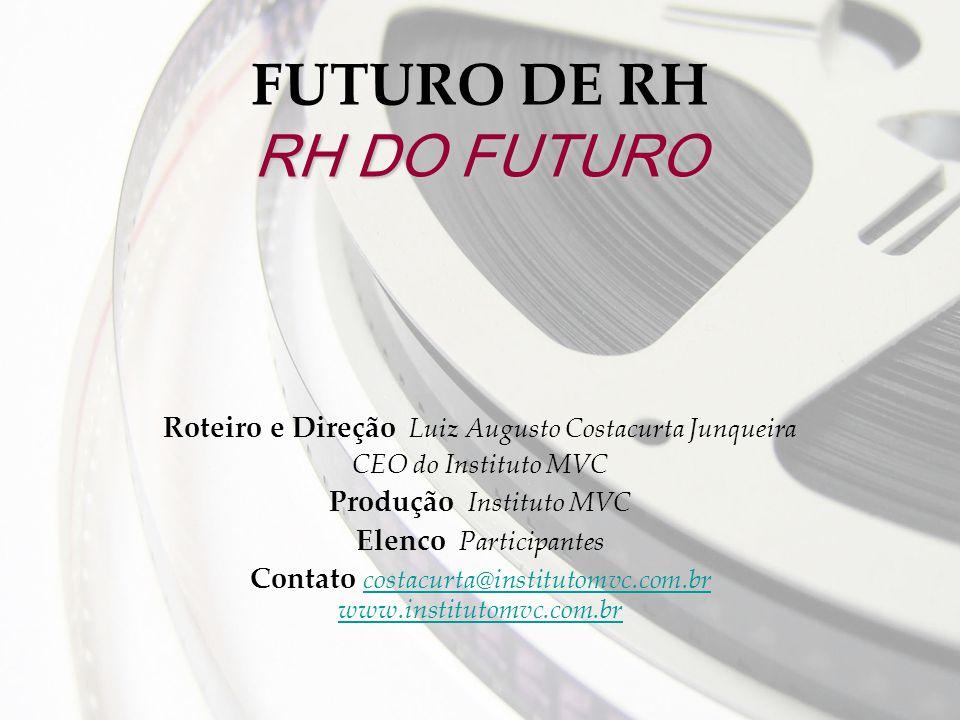 RH DO FUTURO FUTURO DE RH RH DO FUTURO Roteiro e Direção Luiz Augusto Costacurta Junqueira CEO do Instituto MVC Produção Instituto MVC Elenco Particip