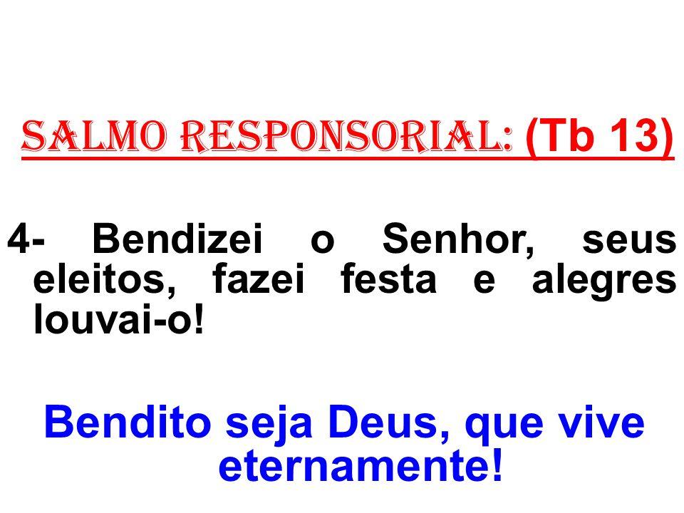 ACLAMAÇÃO AO EVANGELHO: (Lucas 9,1-6) Aleluia.Aleluia.