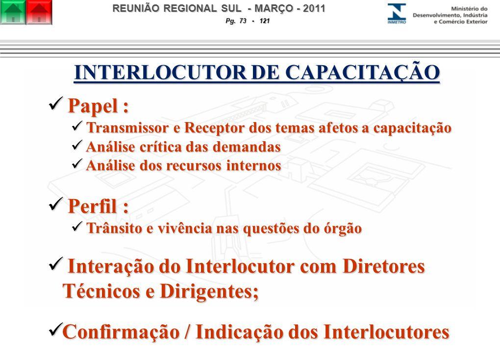 REUNIÃO REGIONAL SUL - MARÇO - 2011 Pg.