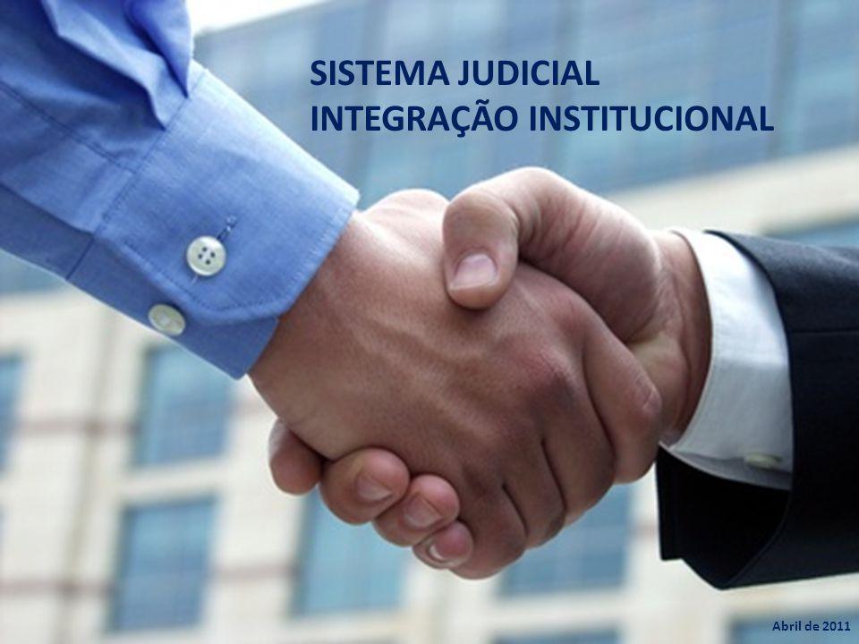 SISTEMA JUDICIAL INTEGRAÇÃO INSTITUCIONAL Abril de 2011