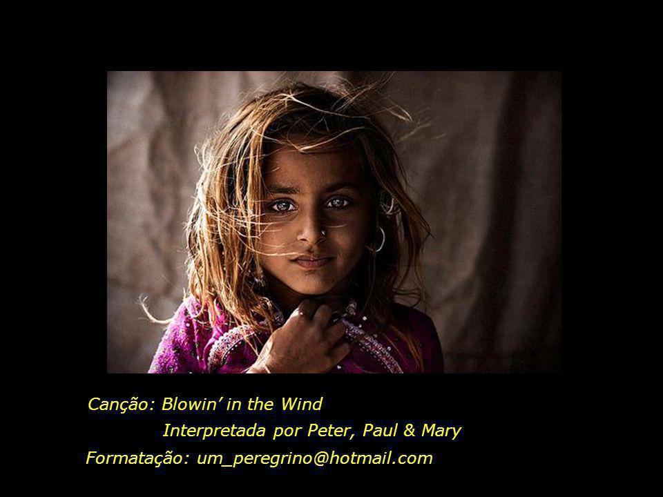 A resposta, meu amigo, Está soprando no vento A resposta está soprando no vento...