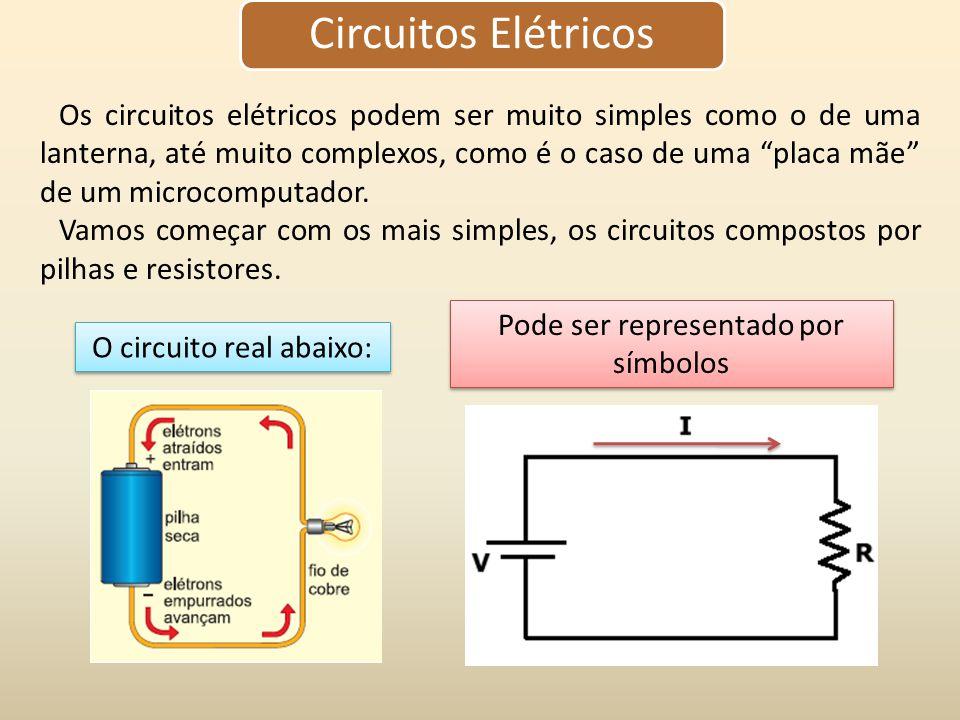 """Os circuitos elétricos podem ser muito simples como o de uma lanterna, até muito complexos, como é o caso de uma """"placa mãe"""" de um microcomputador. Va"""