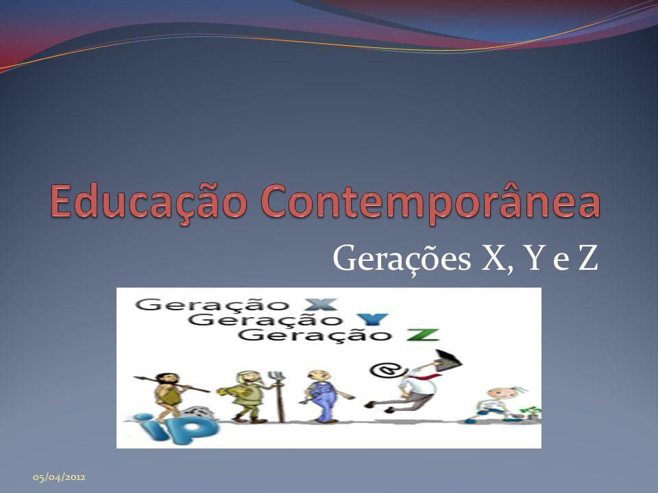 Gerações X, Y e Z 05/04/2012