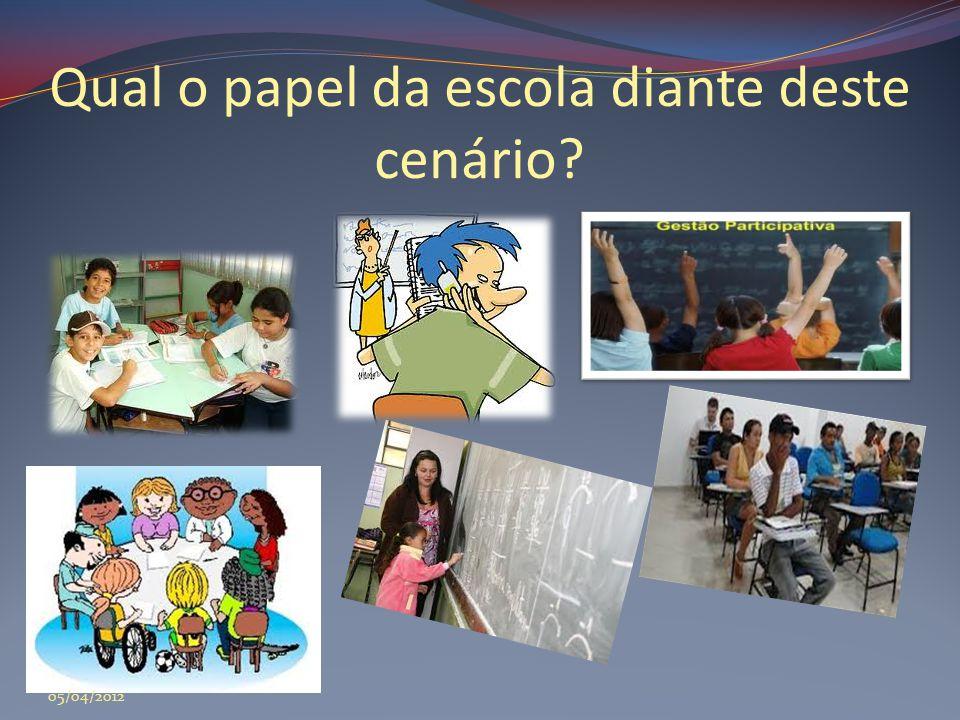 Qual o papel da escola diante deste cenário? 05/04/2012