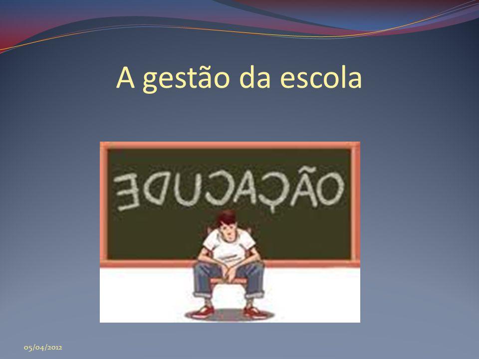 A gestão da escola 05/04/2012