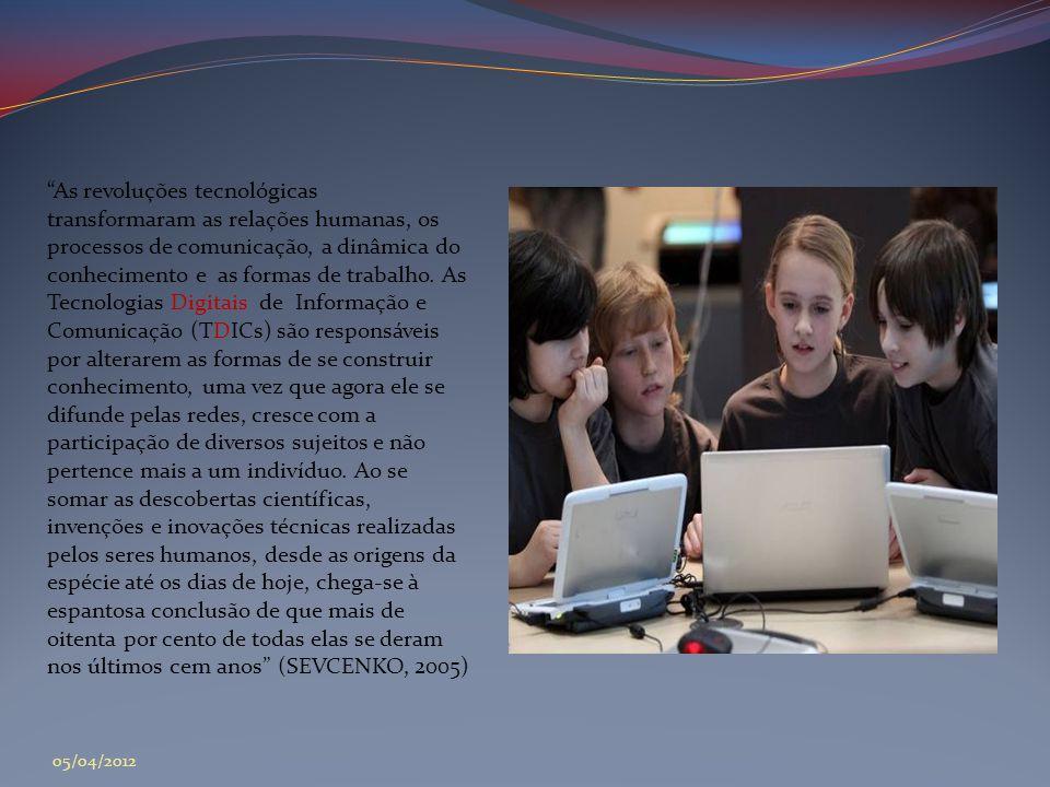 """""""As revoluções tecnológicas transformaram as relações humanas, os processos de comunicação, a dinâmica do conhecimento e as formas de trabalho. As Tec"""