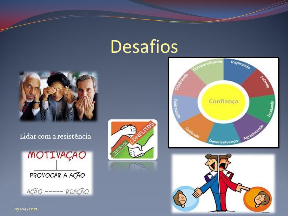 Desafios Lidar com a resistência 05/04/2012
