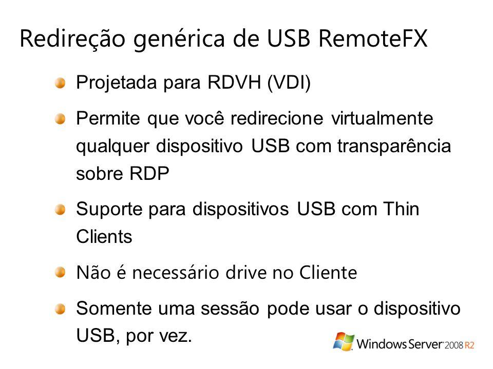 Redireção genérica de USB RemoteFX