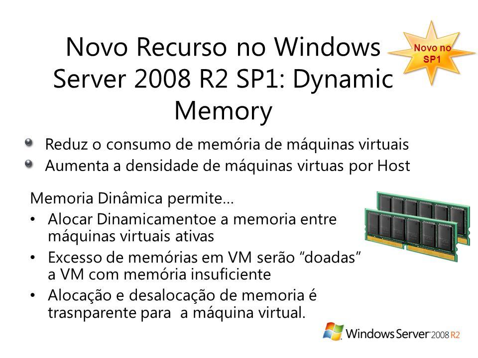 Memoria Dinâmica permite… • Alocar Dinamicamentoe a memoria entre máquinas virtuais ativas • Excesso de memórias em VM serão doadas a VM com memória insuficiente • Alocação e desalocação de memoria é trasnparente para a máquina virtual.