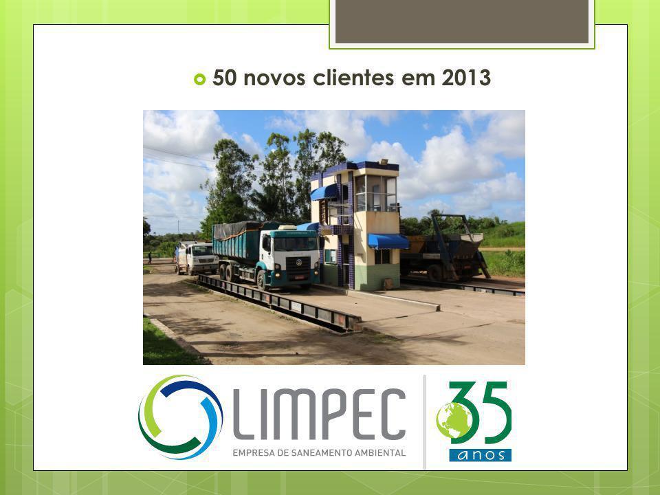  50 novos clientes em 2013