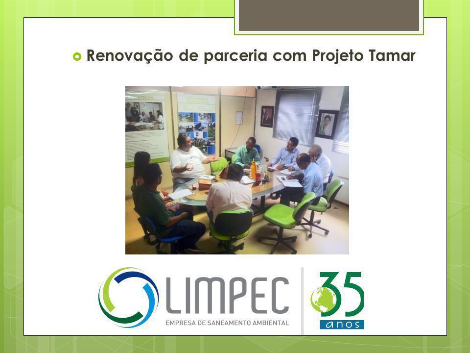  Renovação de parceria com Projeto Tamar