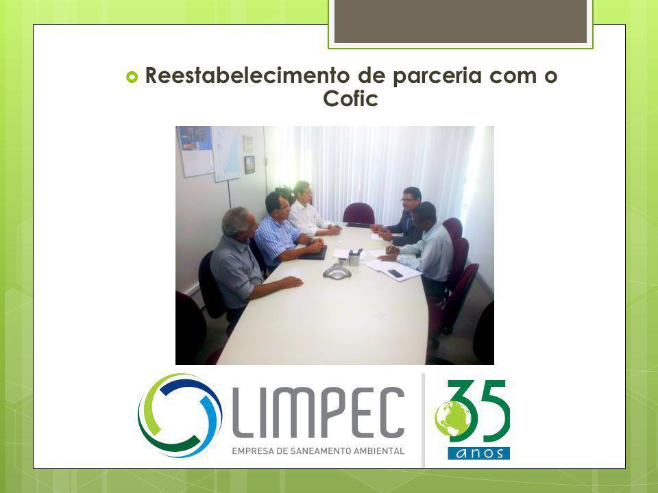  Reestabelecimento de parceria com o Cofic