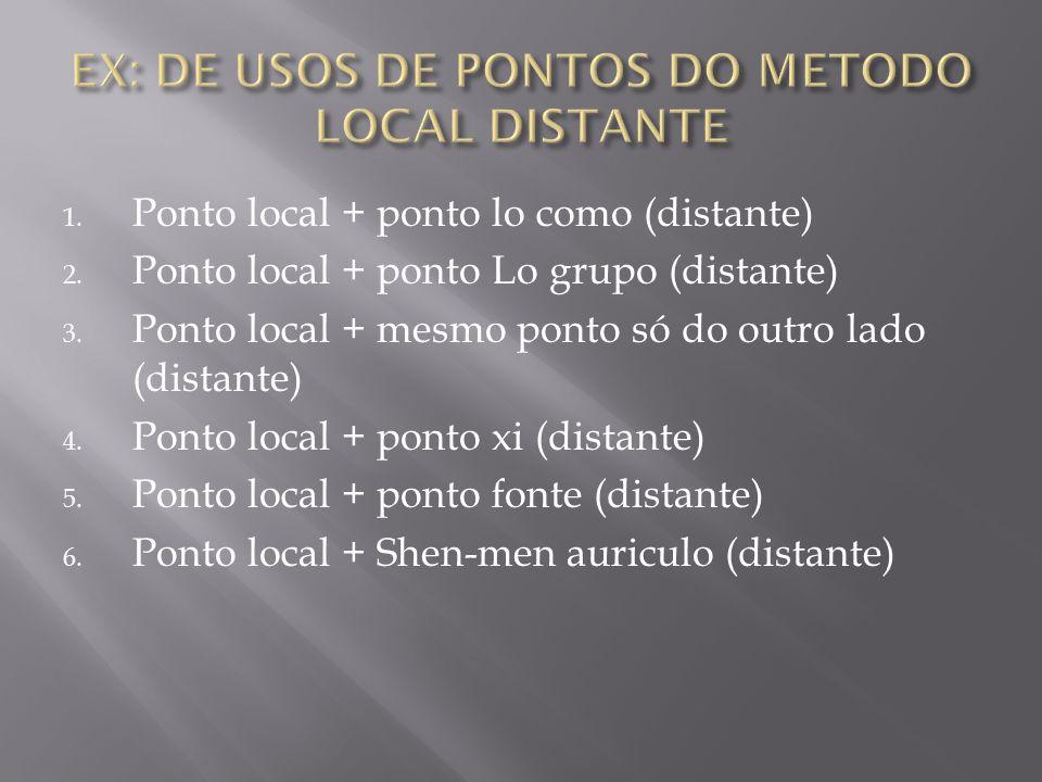 1.Ponto local + ponto lo como (distante) 2. Ponto local + ponto Lo grupo (distante) 3.