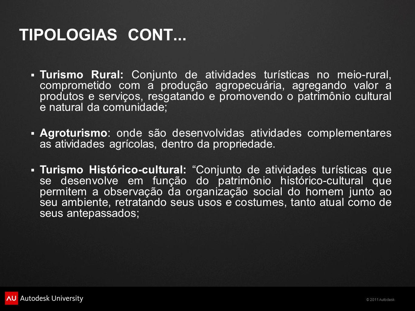© 2011 Autodesk TIPOLOGIAS CONT...