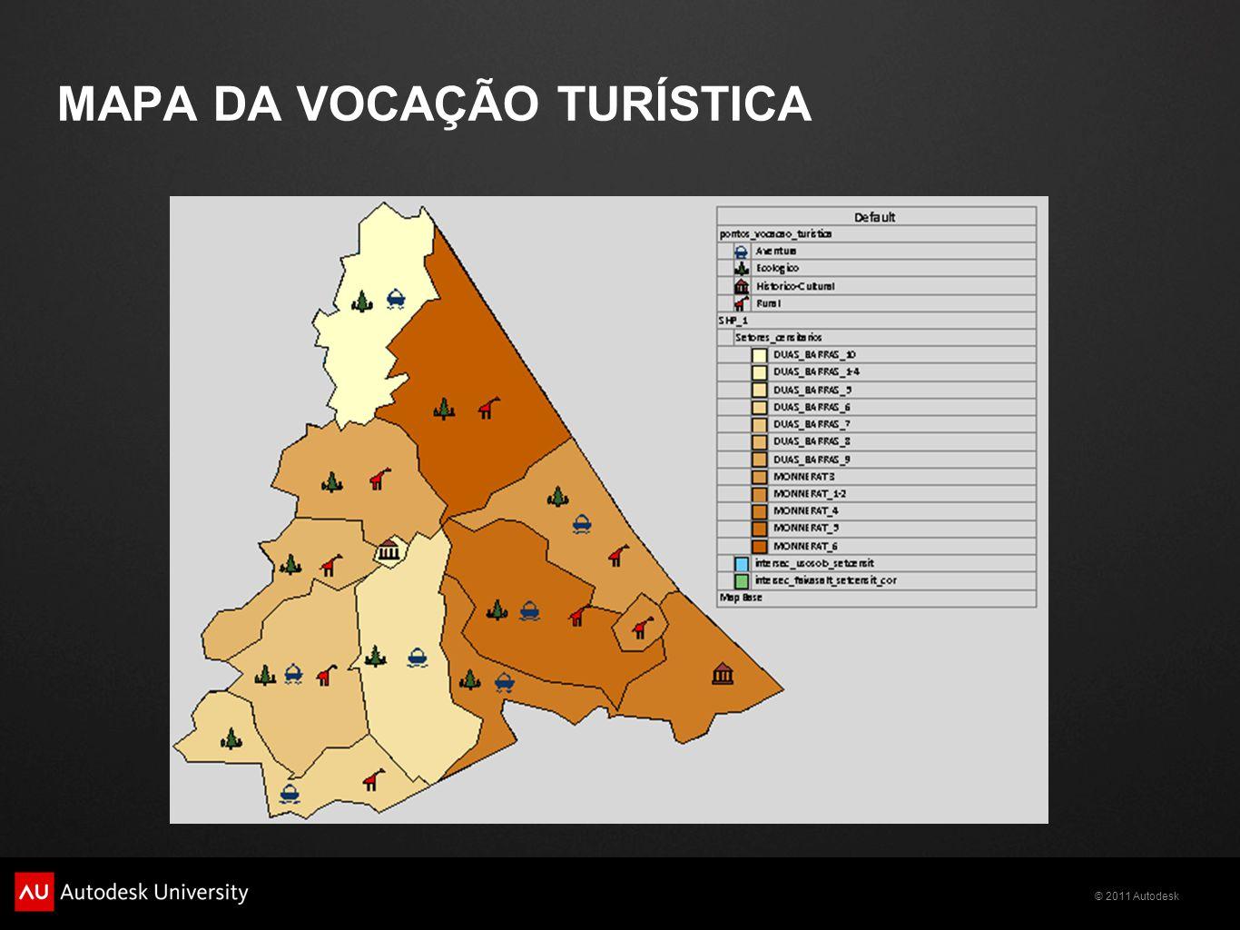 © 2011 Autodesk MAPA DA VOCAÇÃO TURÍSTICA