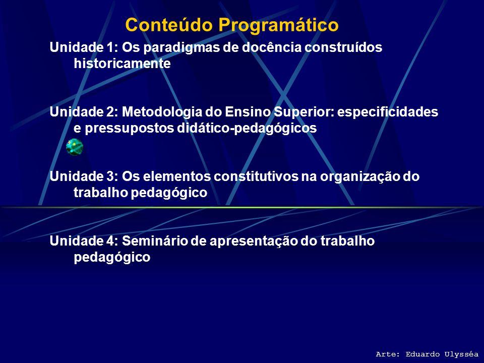Unidade 3: Os elementos constitutivos na organização do trabalho pedagógico Arte: Eduardo Ulysséa •PLANEJAMENTO DA AÇÃO DIDÁTICA •FORMULAÇÃO DE OBJETIVOS EDUCACIONAIS