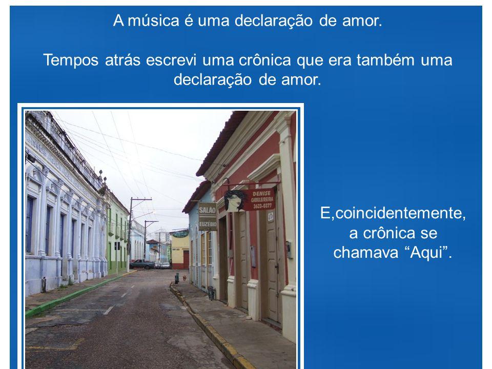 """Ganhei um CD da Ana Carolina, a cancioneira das Gerais. Escutei todas as quinze poesias musicadas. Uma delas me chamou a atenção: """"Aqui""""."""