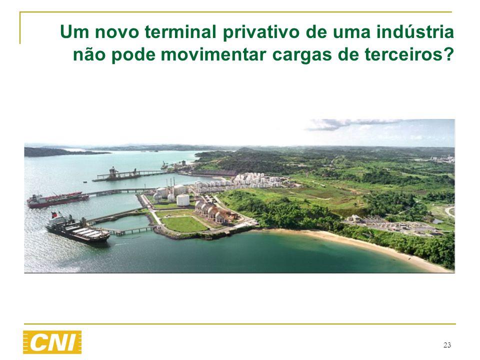 23 Um novo terminal privativo de uma indústria não pode movimentar cargas de terceiros?