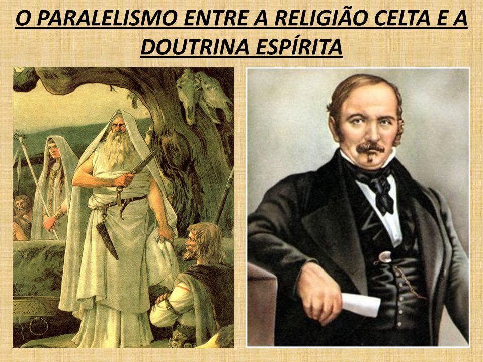 DA IMPOSIÇÃO DAS PENAS VISÃO NA DOUTRINA ESPÍRITA: AS PENAS IMPOSTAS AOS ESPÍRITOS NÃO SÃO ETERNAS, ELAS DURAM O TEMPO NECESSÁRIO AO SEU APERFEIÇOAMENTO. VISÃO NA RELIGIÃO CELTA: NA TRAJETÓRIA PELOS TRÊS CÍRCULOS DAS EXISTÊNCIAS, O ESPÍRITO SE DEPARA COM TRÊS GÊNEROS EXISTENCIAIS: EM ANKN - ESTADO DE SUBMISSÃO À FATALIDADE EM ABRED - ESTADO DE LIBERDADE E LIVRE ARBÍTRIO TOTAL EM GWENVED - ESTADO DE FELICIDADE SUPREMA E AMOR PERFEITO, PONTO DE PERFEIÇÃO QUE TODOS OS ESPÍRITOS ALCANÇARÃO UM DIA COMENTÁRIO: FICA CLARO NAS DUAS VISÕES, A MANIFESTAÇÃO DA LEI DE CAUSA E EFEITO.