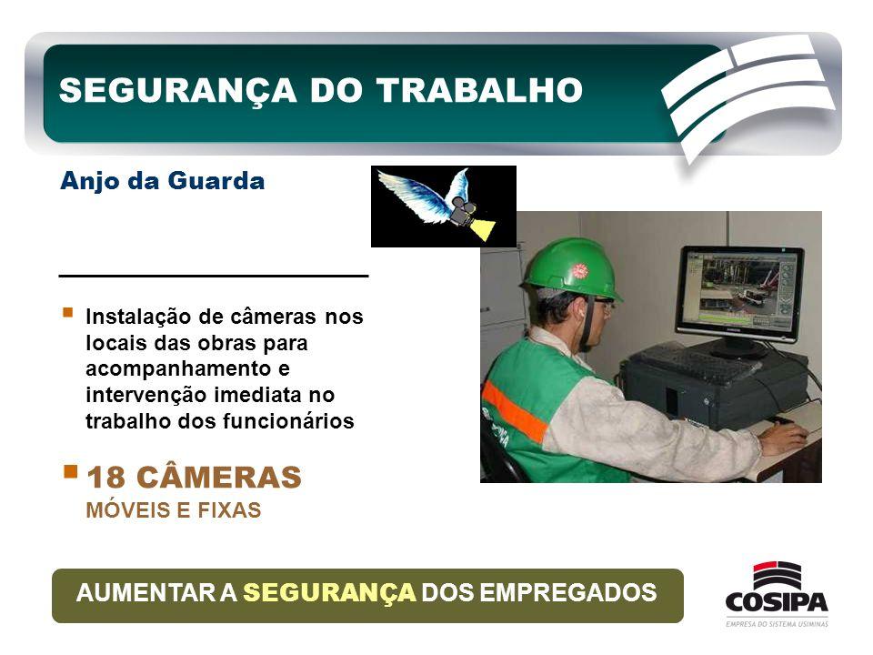  Instalação de câmeras nos locais das obras para acompanhamento e intervenção imediata no trabalho dos funcionários  18 CÂMERAS MÓVEIS E FIXAS AUMEN