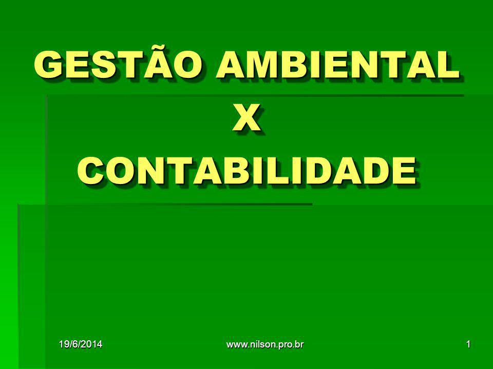 GESTÃO AMBIENTAL X CONTABILIDADE 19/6/20141www.nilson.pro.br