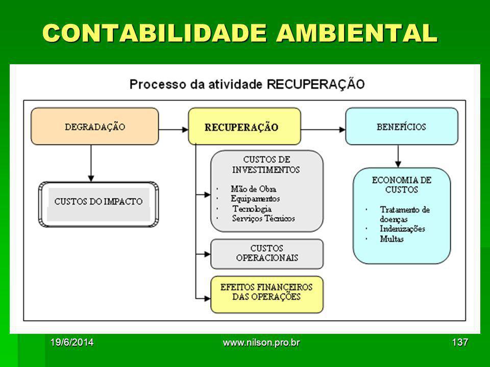 CONTABILIDADE AMBIENTAL 19/6/2014137www.nilson.pro.br