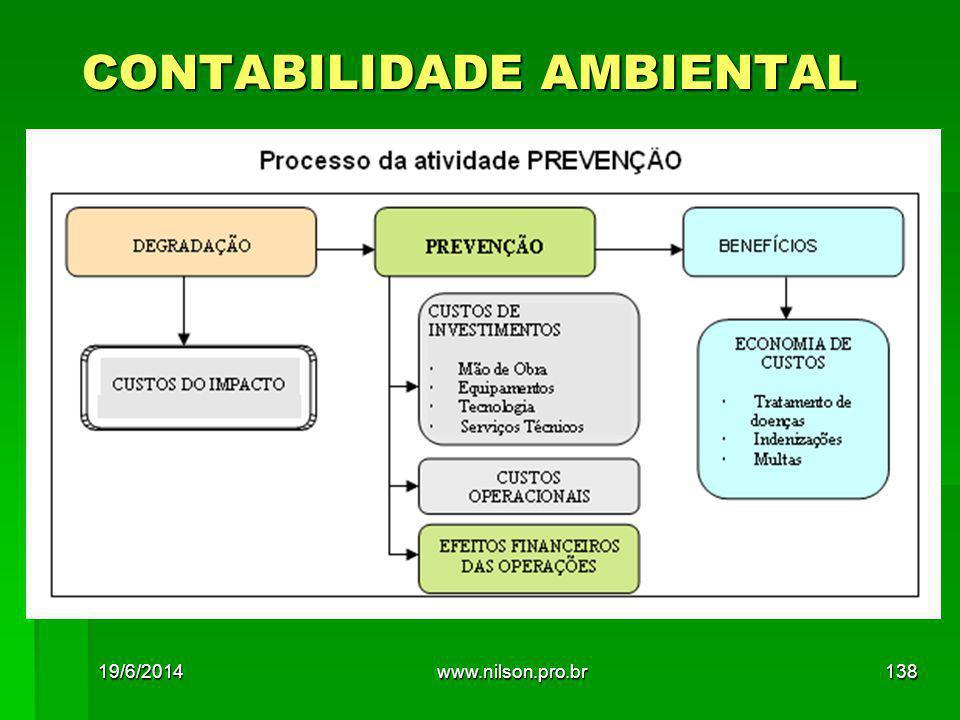 CONTABILIDADE AMBIENTAL 19/6/2014138www.nilson.pro.br