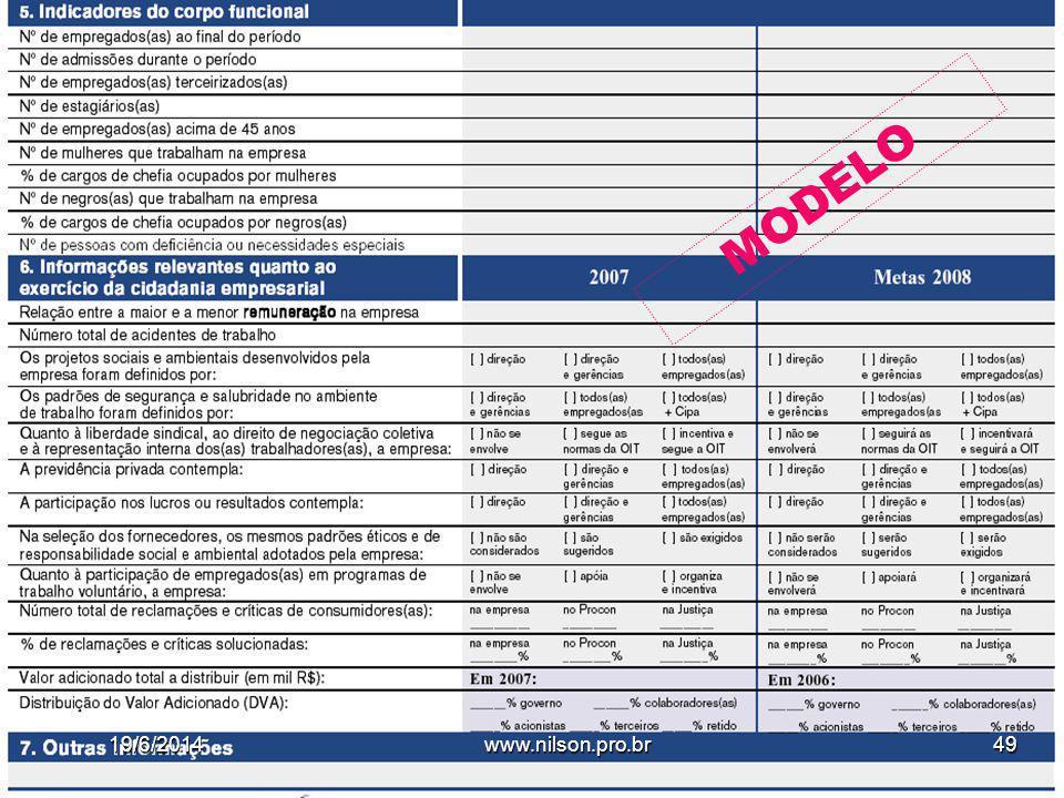 Granato E.F. MODELO 19/6/201449www.nilson.pro.br