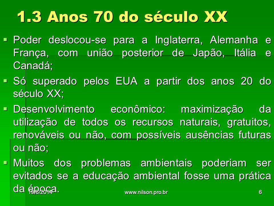 Passos fundamentais para estruturar os demonstrativos ambientais 19/6/2014127www.nilson.pro.br
